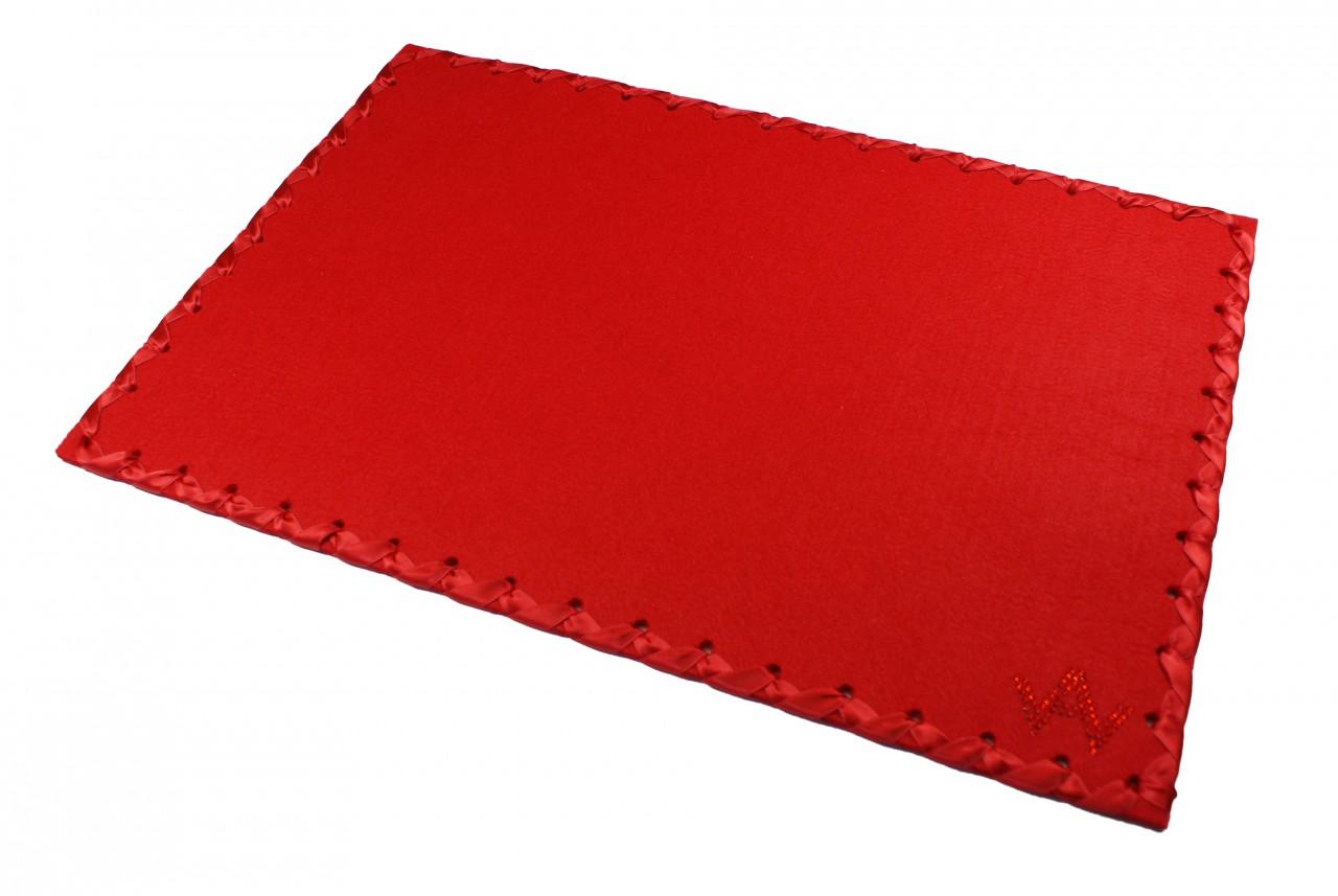 Tischset Filz Rot