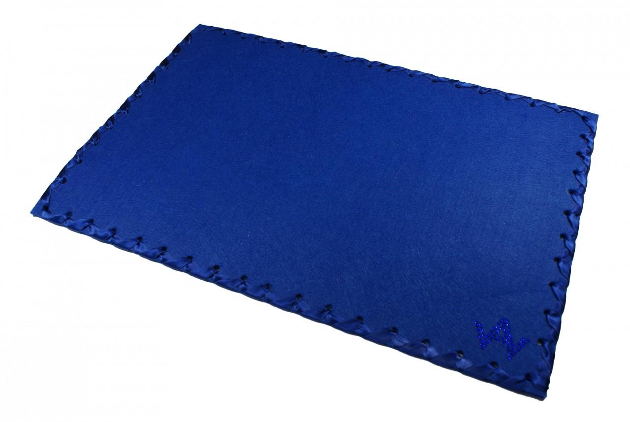 Tischset Filz Blau