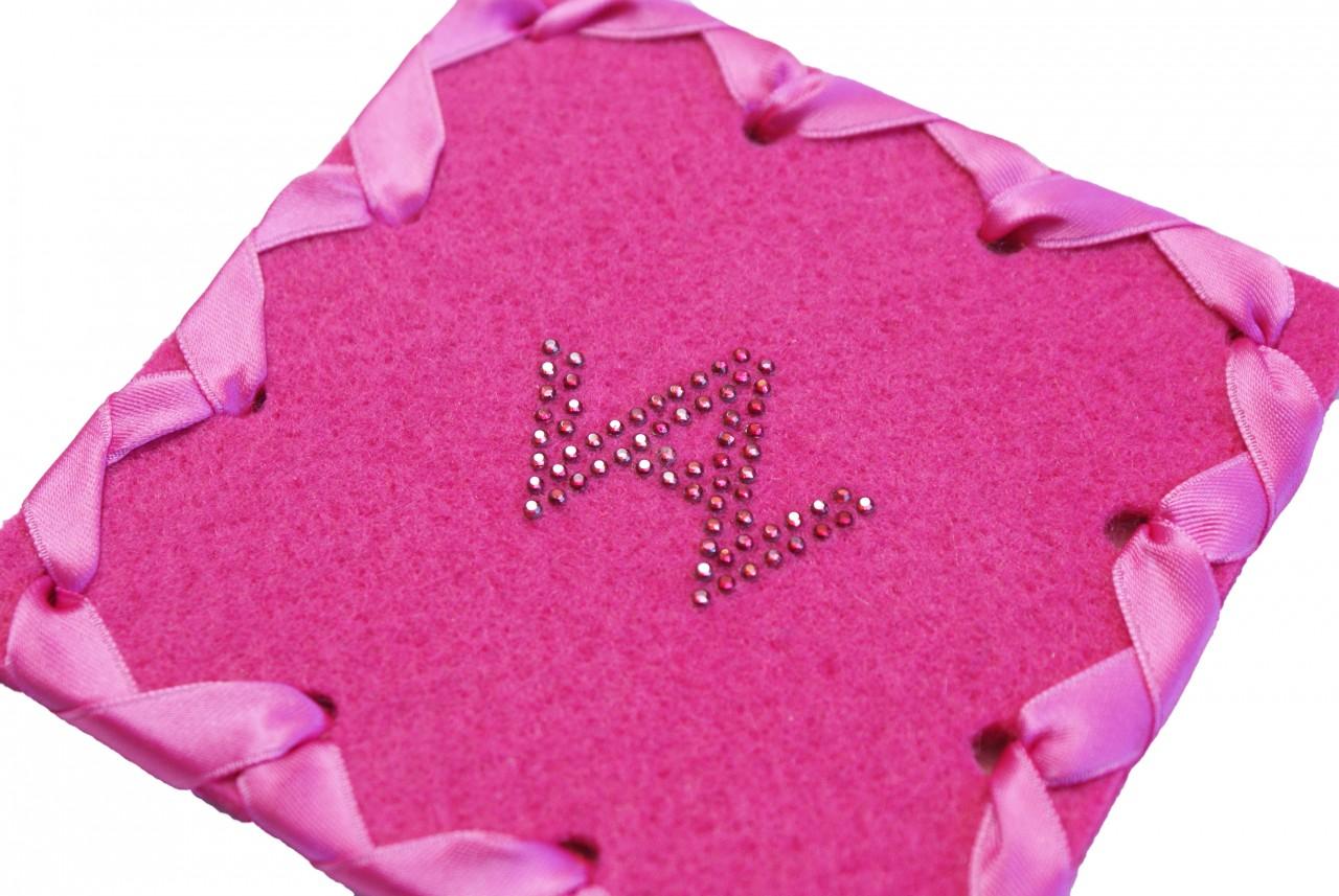 Glasuntersetzer Filz Pink