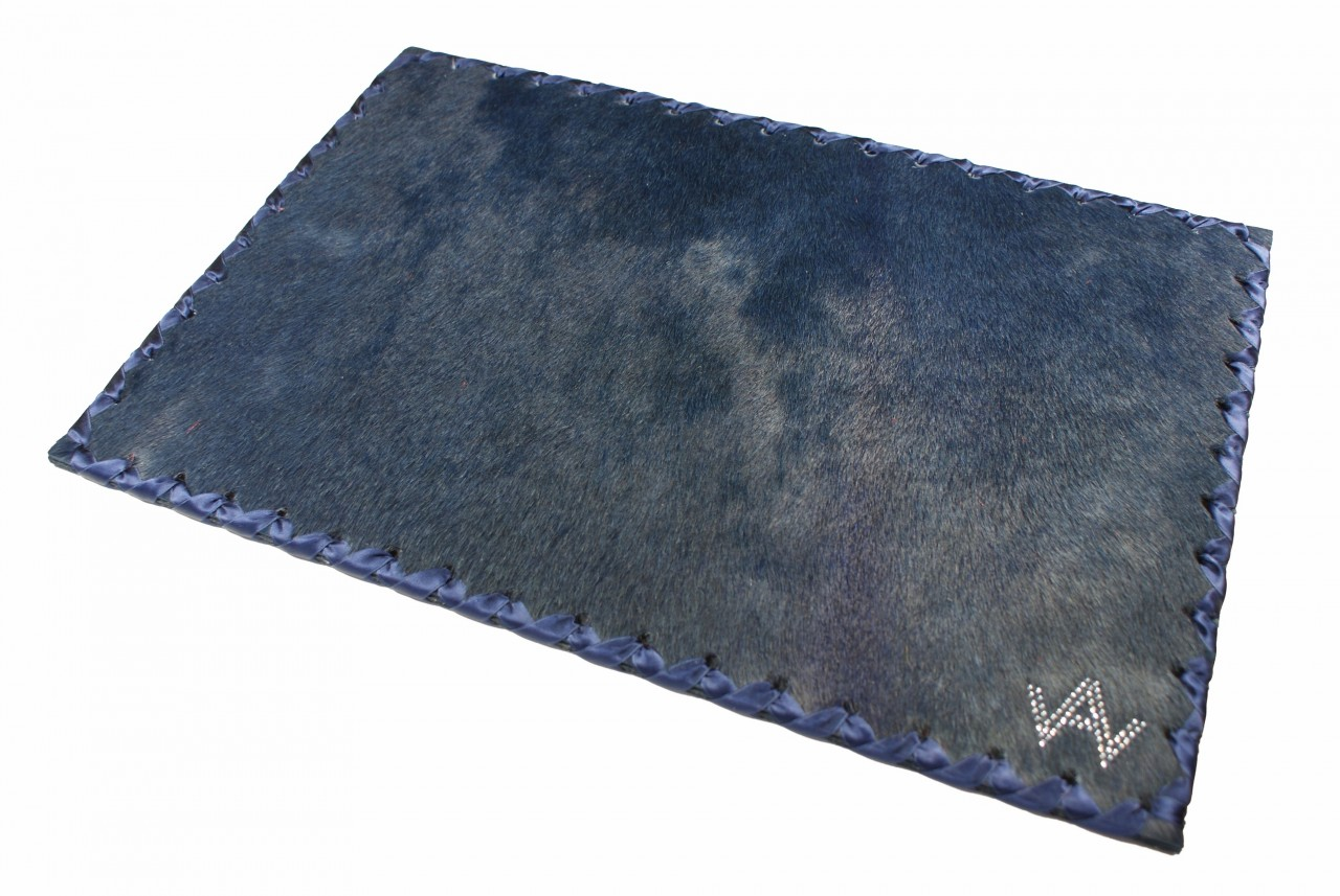 Tischset Fell Exklusiv Blau