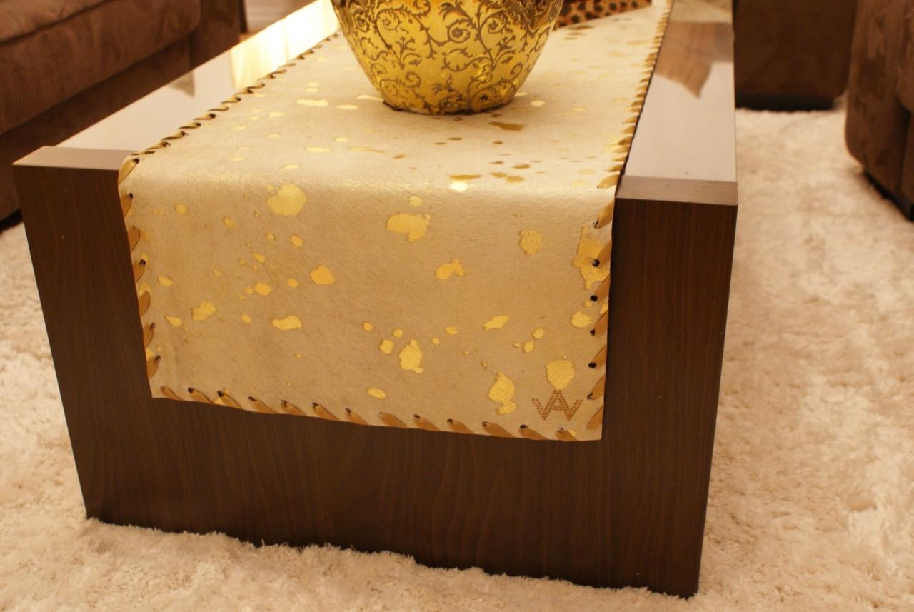 Tischläufer Fell Exklusiv Gold