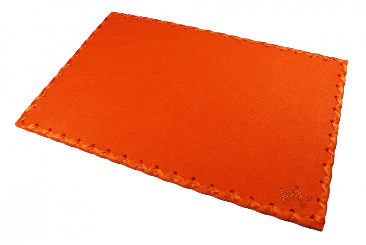 Tischset Filz Orange