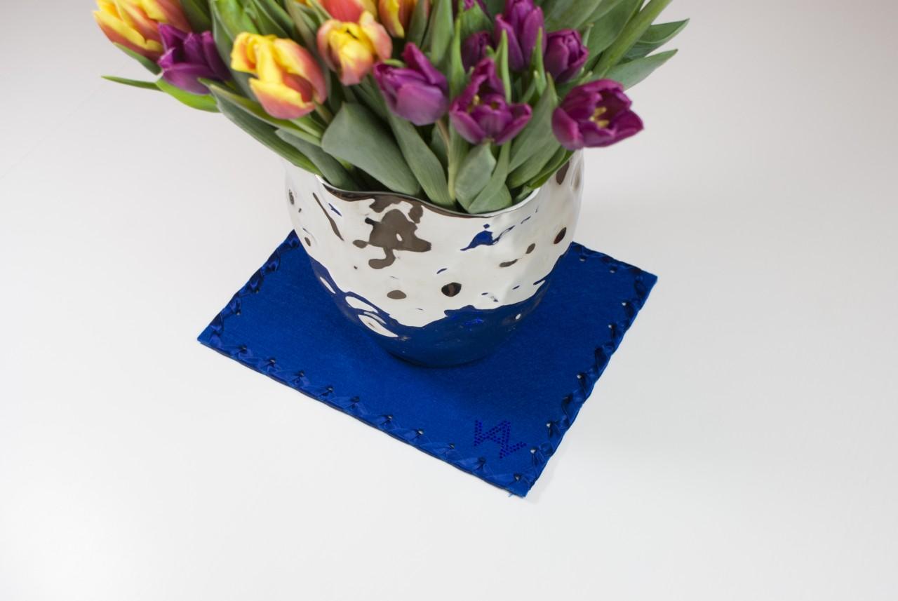 Untersetzer Filz Blau