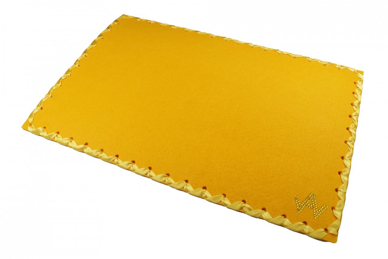 Tischset Filz Gelb