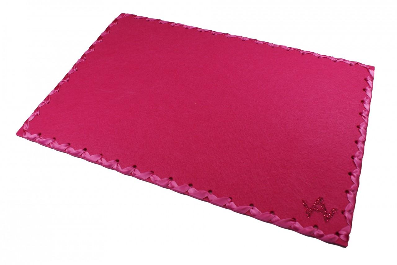 Tischset Filz Pink