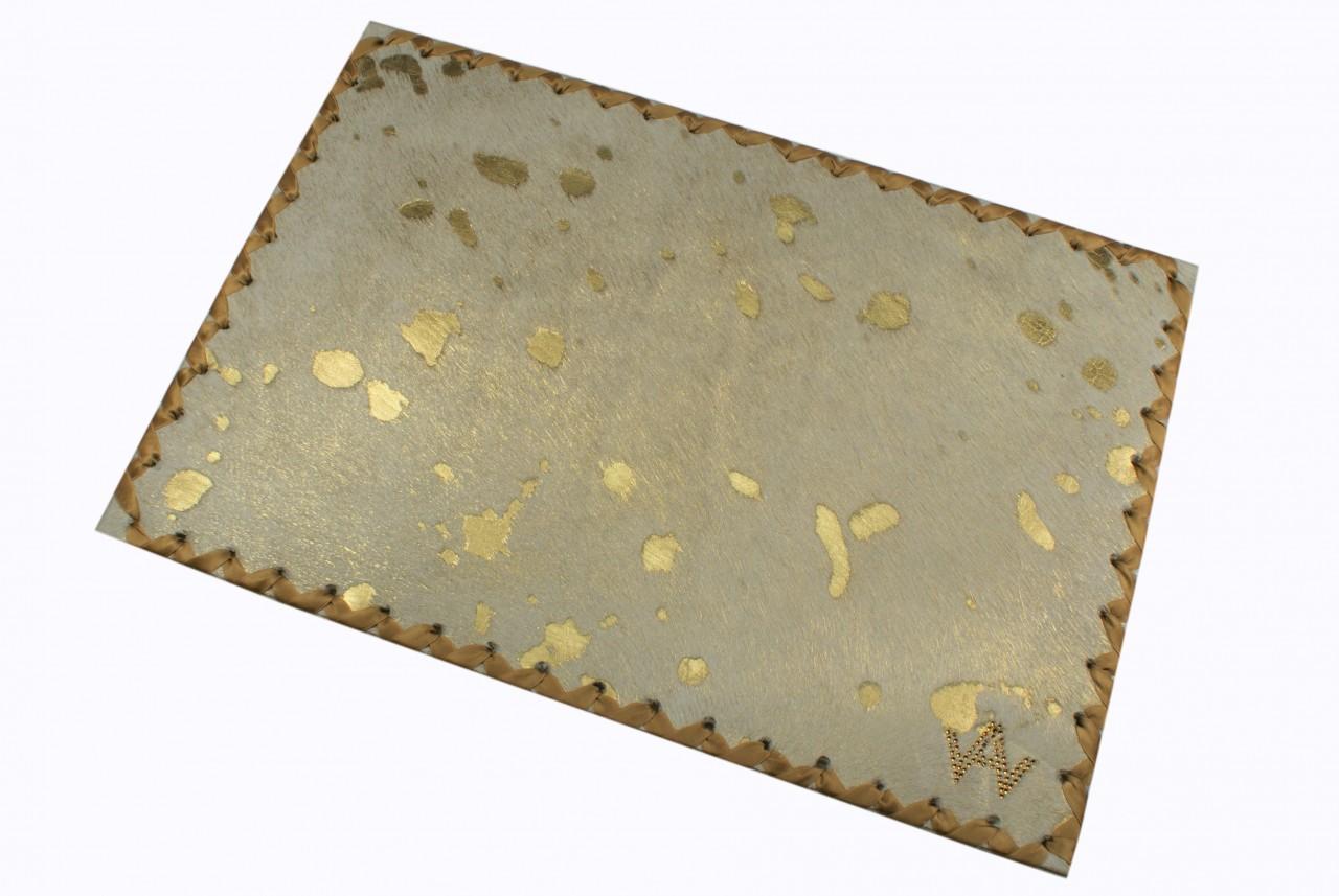 Tischset Fell Exklusiv Gold