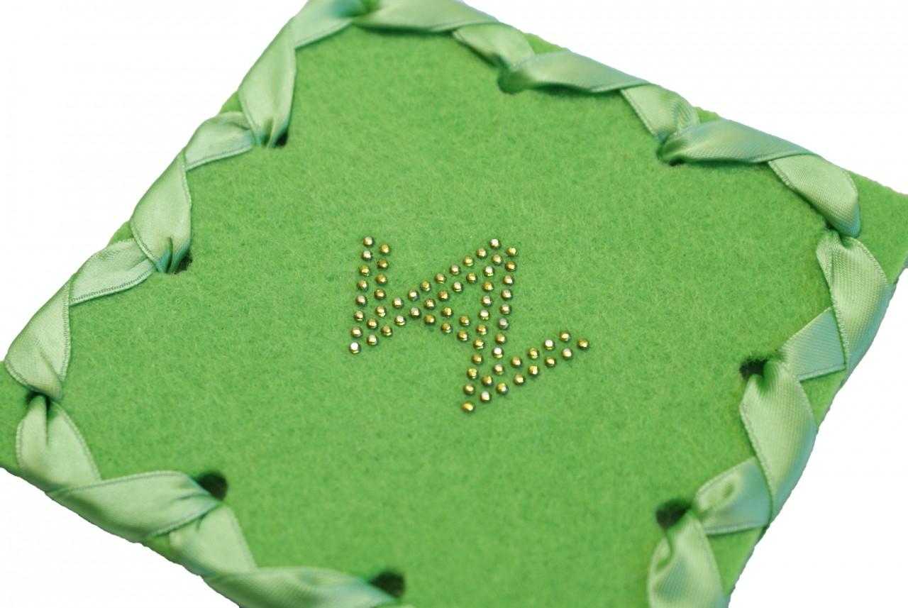 Glasuntersetzer Filz Grün