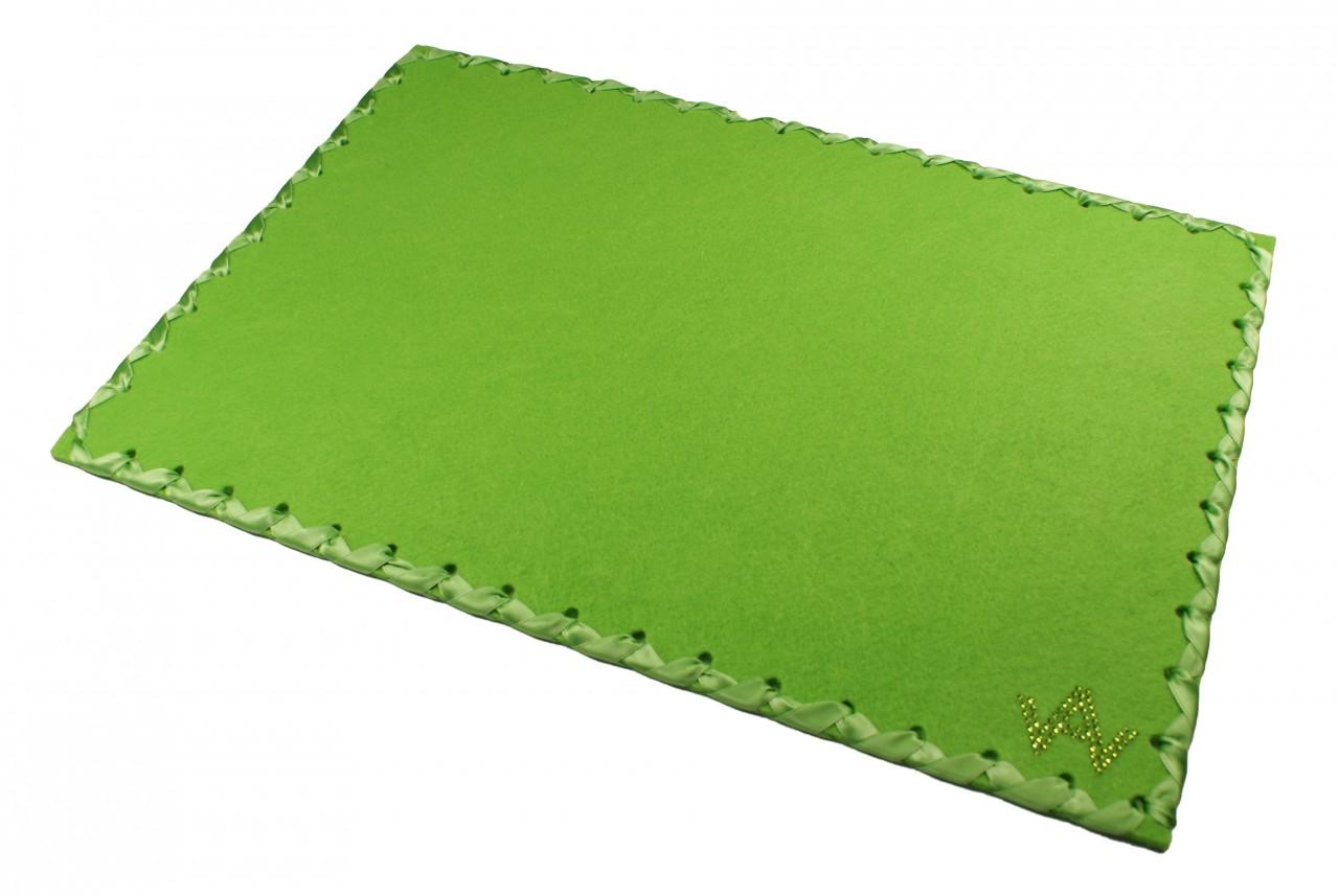 Tischset Filz Grün