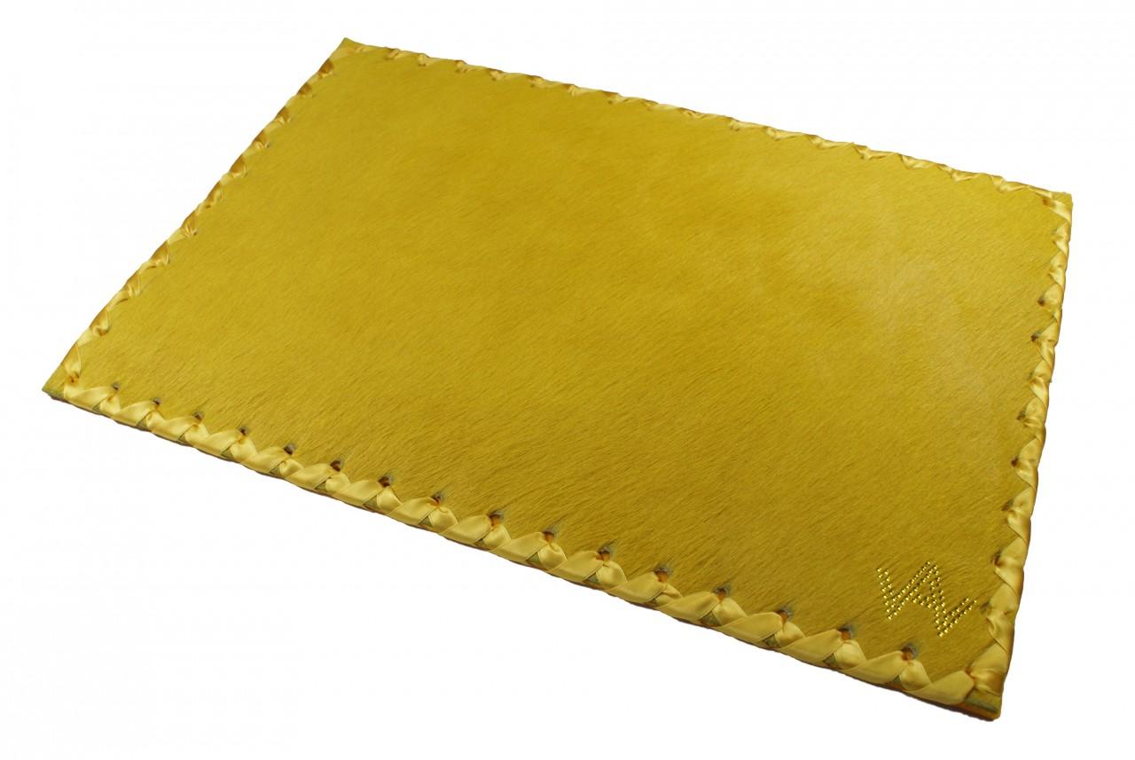Tischset Fell Exklusiv Gelb