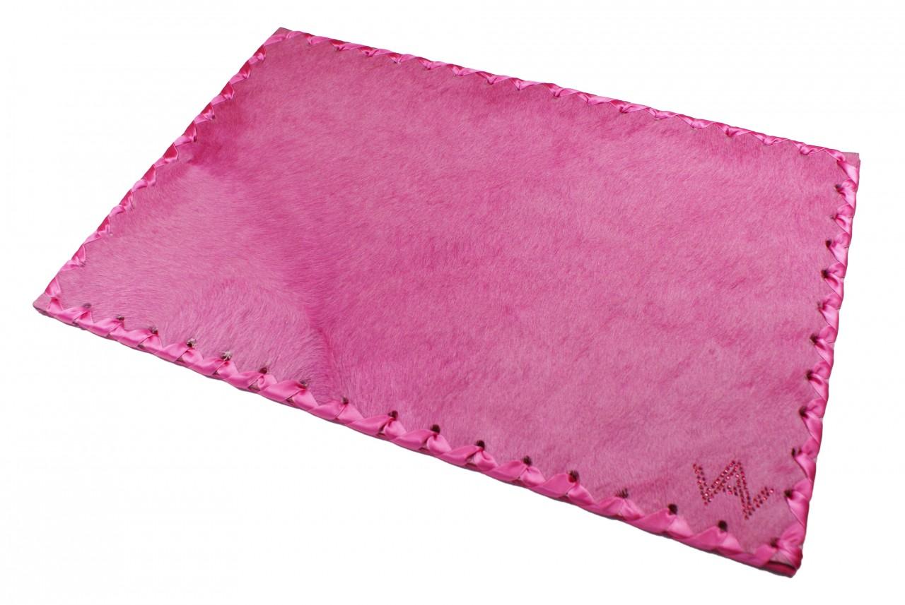 Tischset Fell Exklusiv Pink