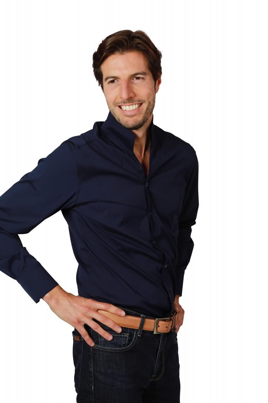 Herrenhemd Adam True Blue